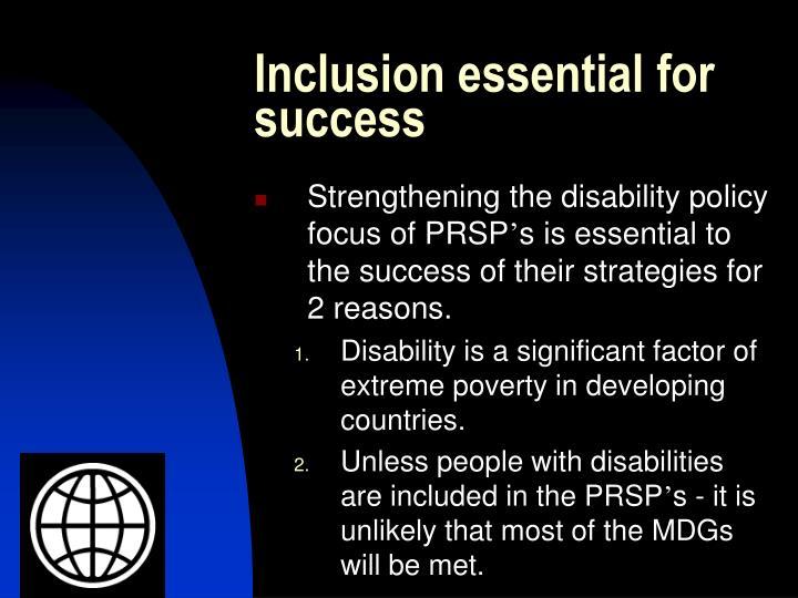 Inclusion essential for success
