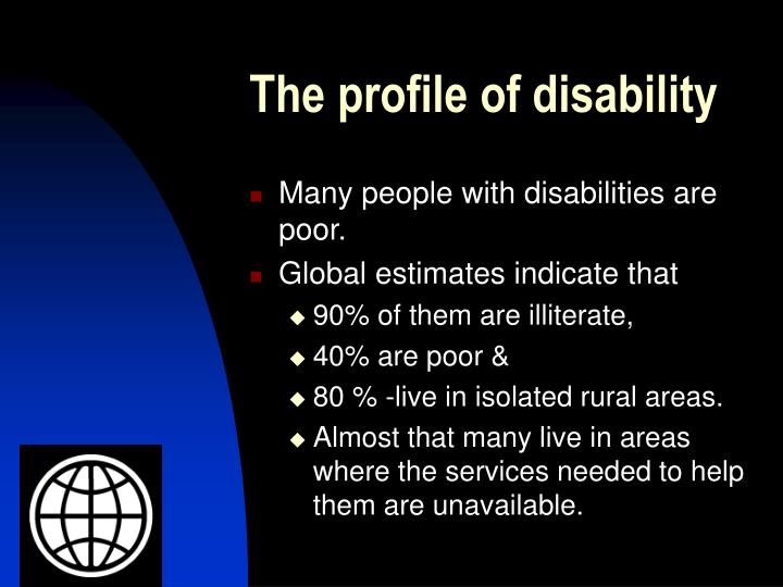 The profile of disability