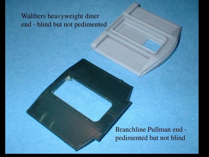 Walthers heavyweight diner end - blind but not pedimented