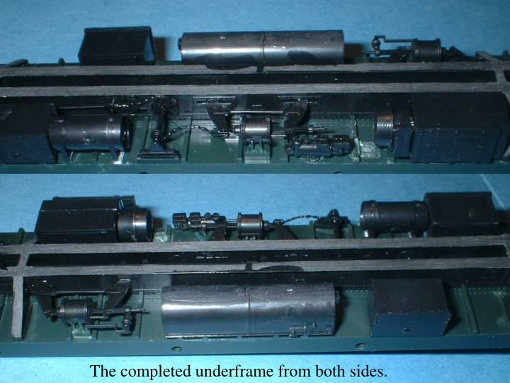 The completed underframe from both sides.