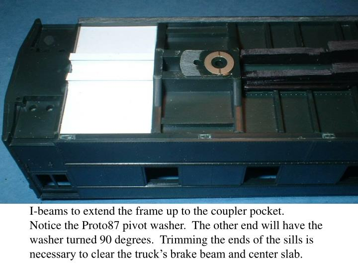 I-beams to extend the frame up to the coupler pocket.