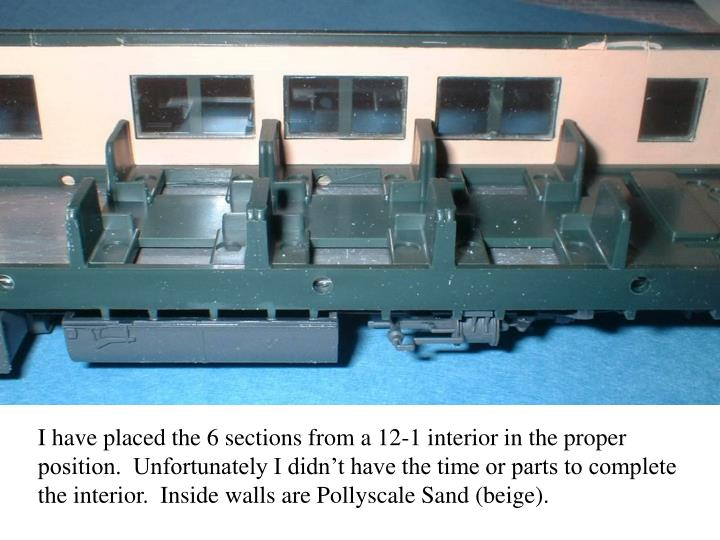 I have placed the 6 sections from a 12-1 interior in the proper