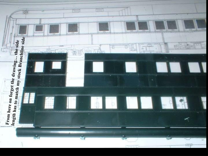 From here on forget the drawing… the side length has to match my stock Branchline side