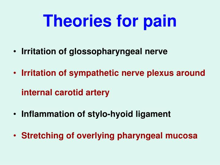 Theories for pain