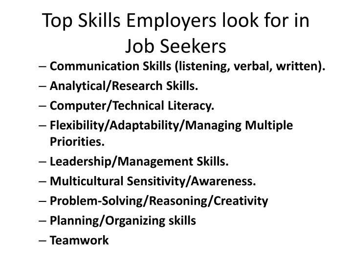 Top Skills Employers look for in
