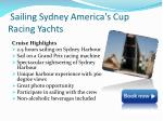 sailing sydney america s cup racing yachts