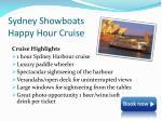 sydney showboats happy hour cruise