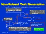 non robust test generation