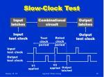 slow clock test
