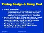 timing design delay test