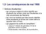 1 2 les cons quences de mai 1968