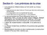 section 6 les pr mices de la crise