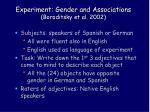 experiment gender and associations boroditsky et al 2002
