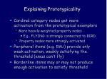 explaining prototypicality