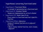 hypotheses concerning functional webs