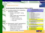 environmental performance criteria epc