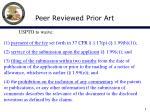 peer reviewed prior art6