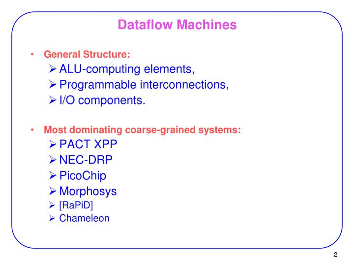 Dataflow machines