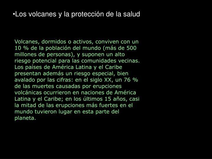 Los volcanes y la protección de la salud