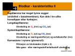 blodkar karakteristika ii1