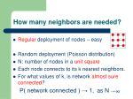 how many neighbors are needed