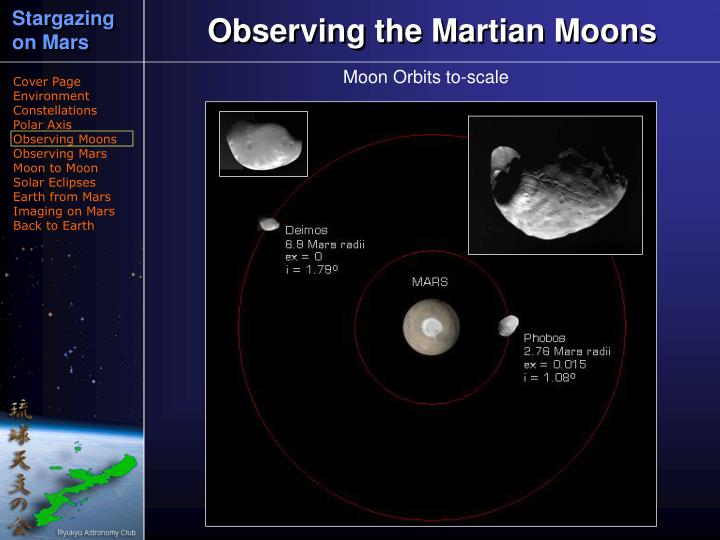 Observing the Martian Moons