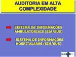 sistema de informa es ambulatoriais sia sus sistema de informa es hospitalares sih sus