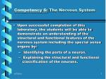competency 6 the nervous system