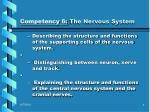 competency 6 the nervous system1