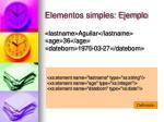 elementos simples ejemplo