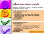 indicadores de ocurrencia