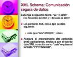 xml schema comunicaci n segura de datos