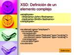 xsd definici n de un elemento complejo