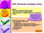 xsd elementos complejos mixtos