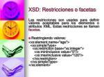 xsd restricciones o facetas