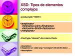xsd tipos de elementos complejos