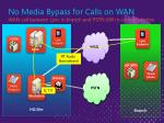 no media bypass for calls on wan wan call between lync in branch and pstn gw in central location