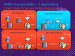 pabx interoperability 2 approaches client side server side integration