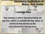 advertising applications of means end chains