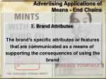advertising applications of means end chains1