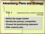 advertising plans and strategy6