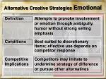 alternative creative strategies emotional