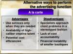 alternative ways to perform the advertising function2