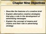 chapter nine objectives1
