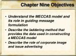 chapter nine objectives2