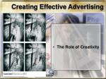 creating effective advertising