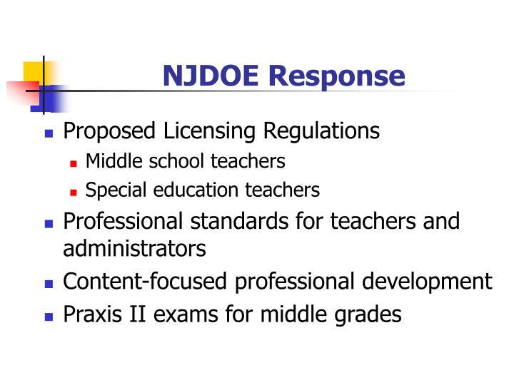 NJDOE Response