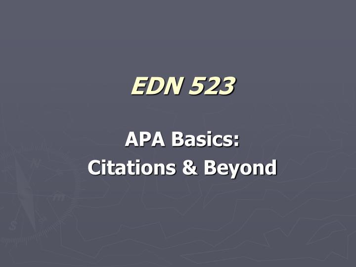 edn 523 n.