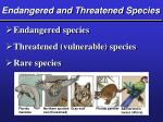 endangered and threatened species1