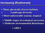 increasing biodiversity
